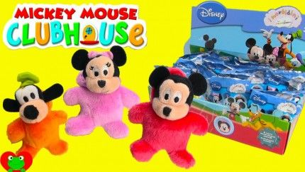 Mickey Mouse Club House Plushies Blind Bags opening by Toy Genie Surprises. There are a total of 8 different plushies to collect including Mickey Mouse, Minnie Mouse, and some of Mickey's clubhouse friends. These plushies are super adorable because they come with little hoodies for their heads. There is also a loop for easy hanging.