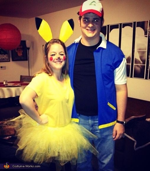 diy pikachu and ash couples costume i think i finally found something david will want - Pikachu Halloween Costume Women