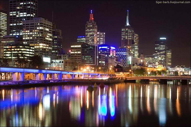 Melbourne at night.