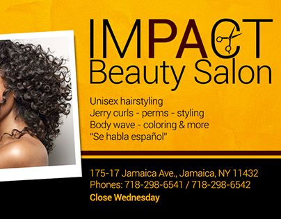 """Check out new work on my @Behance portfolio: """"Business Card - Impact Beauty Salon"""" http://be.net/gallery/43978585/Business-Card-Impact-Beauty-Salon"""