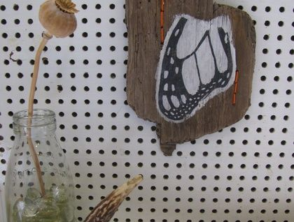 Butterfly Wing on Driftwood
