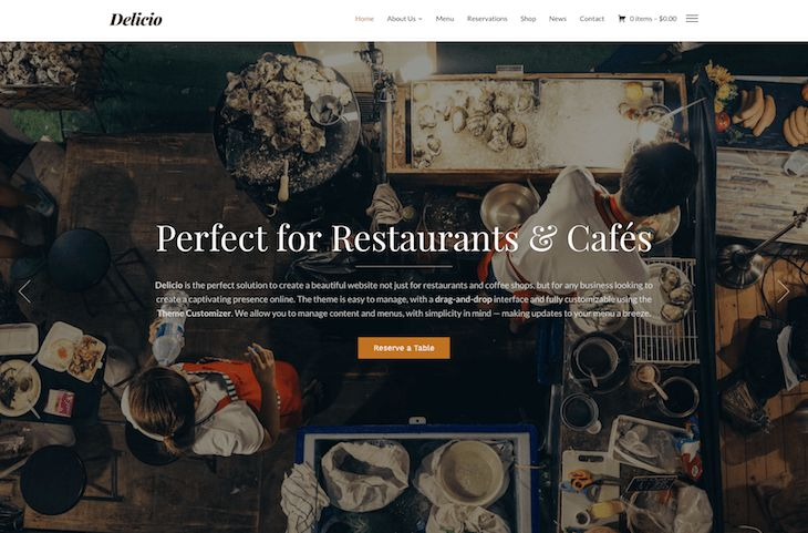 Were very excited to announce the discharge of our new theme! Meet Delicio a chic theme good not only for eating places and espresso outlets however for any enterprise trying to create a fascinating presence on-line.  Demo Buy Now  Delicio  Theme Options  Drag & Drop Web page Builder  Meals Menu Template  Desk Bookings type  Stay Customizer  WooCommerce Help  Extra options may be discovered on the themes page  Responsive Format  Delicio includes a fluid responsive format so your pages will…