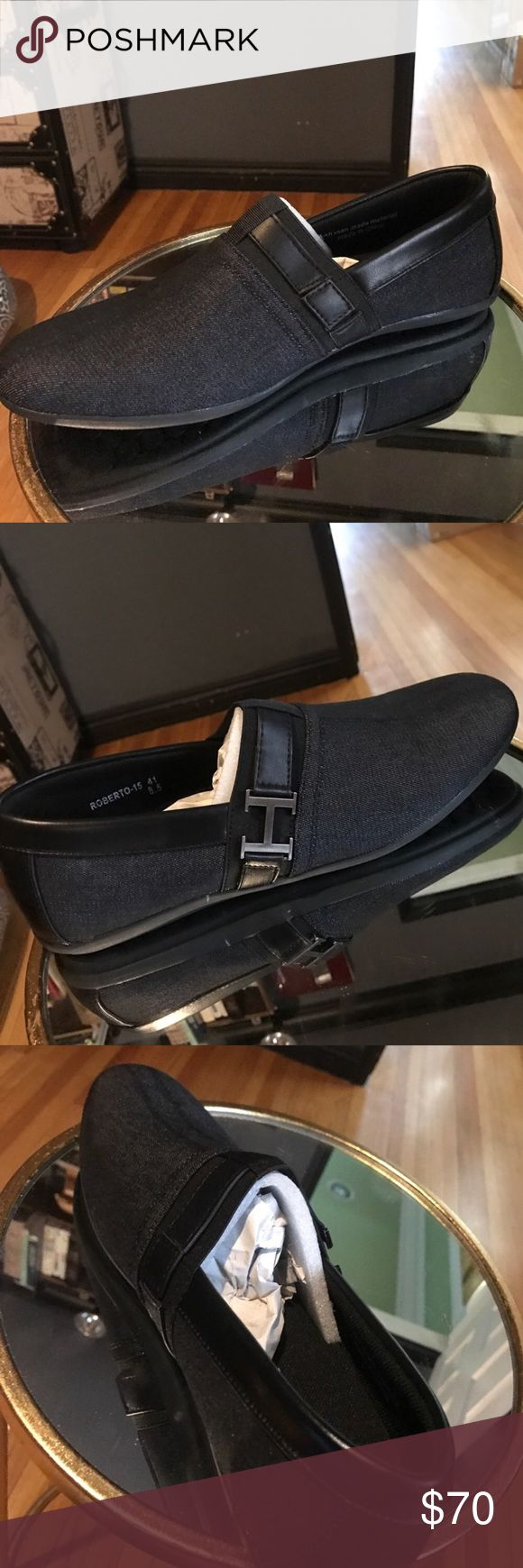 Denim men's driving shoes - Franco Venucci Franco Vanucci brand new denim driving shoes/loafers. Comes with original packaging and has never been worn. franco vanucci Shoes Loafers & Slip-Ons