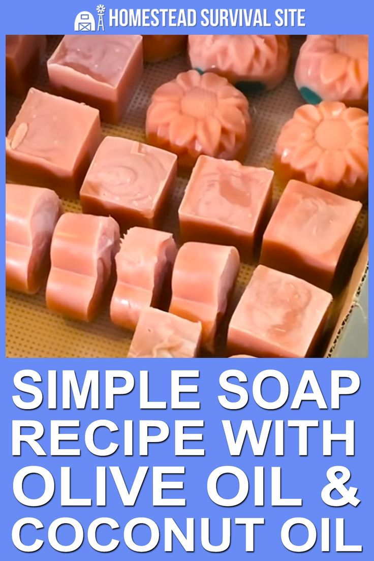 Simple Soap Recipe With Olive Oil and Coconut Oil Easy