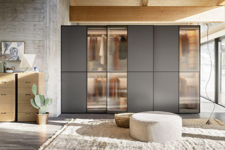 home decor sliding wardrobe world luxury lighting   Glazed sliding doors with interior lighting #wardrobe # ...
