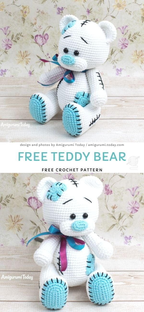 Honey teddy bears in love: crochet pattern - Amigurumi Today | 1300x600