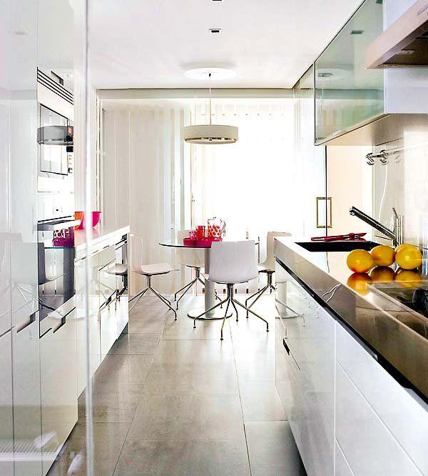 Una cocina acristalada de 13,3 m²