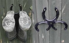 horseshoe boot rack - Google Search