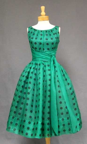 50's cocktail dress VINTAGEOUS.COM