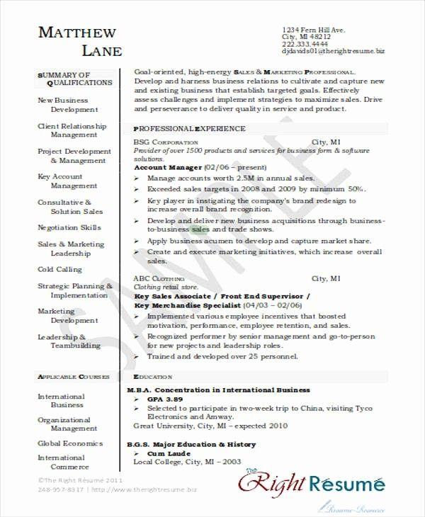 Elegant 30 Printable Sales Resume Templates Pdf Doc Sales Resume Examples Cv Cover Letter Sample Executive Resume