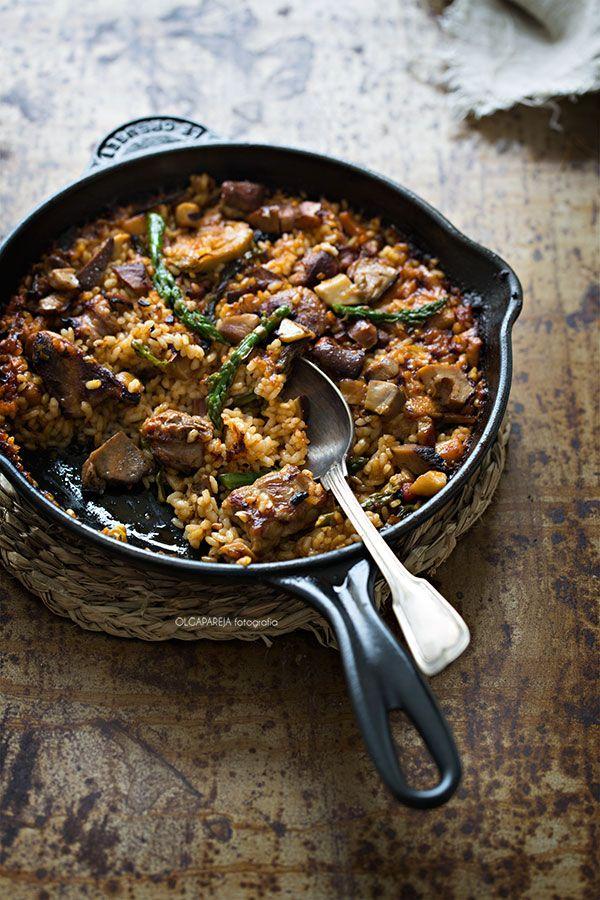Nina's Kitchen: Arroz de montaña con costilla, espárragos trigueros y ceps de la Cerdanya