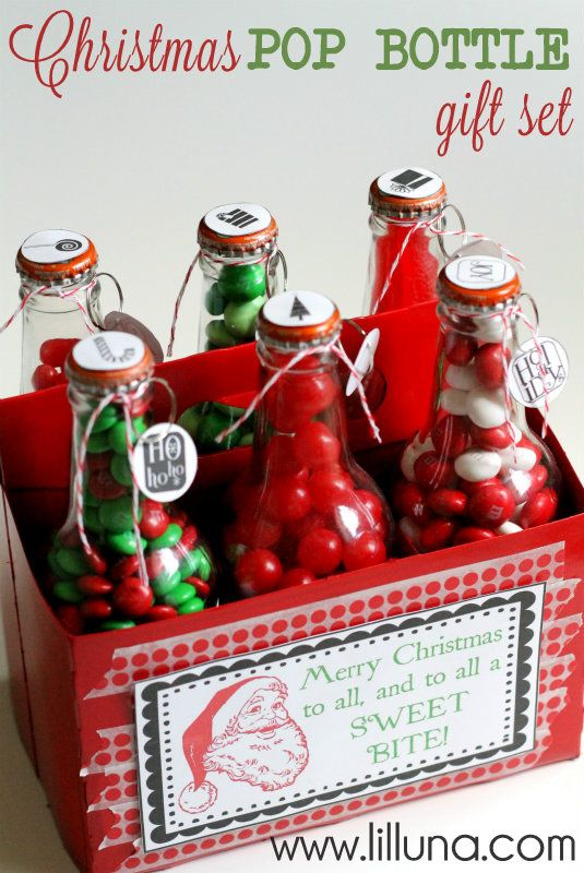 maybe make the beer caddie and fill bottles with candy as a gift. LOVE!