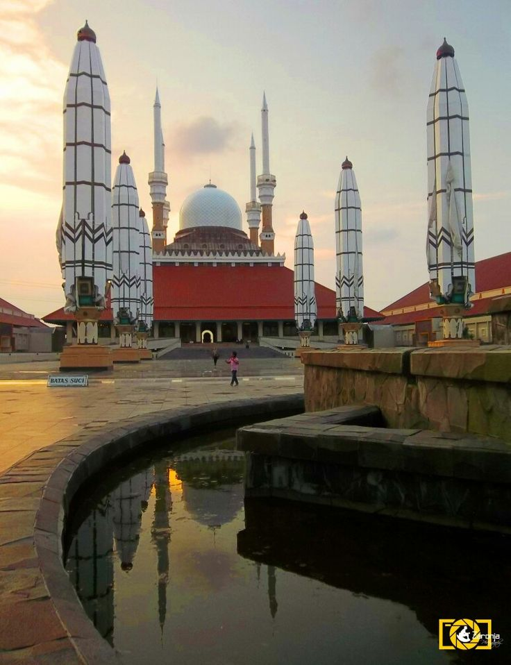 The Great Mosque of Central Java in Semarang, Indonesia