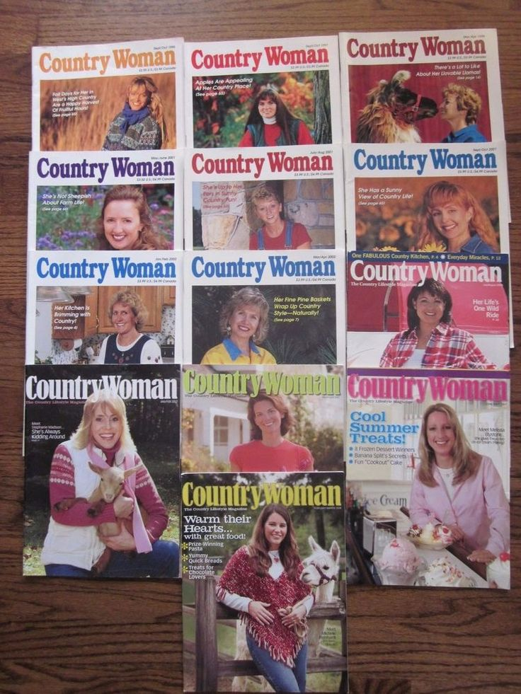 Country Woman Magazine Lot of 13 Assorted 1995 - 2008
