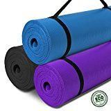 Bodhivana Eco Friendly Extra Thick Yoga Mat; Exercise Mat 15mm x183x61cm; Thick Pilates Mat with Carry Strap; Thick Exercise Mat Non Slip NBR Material; FREE Flat Tummy Yoga Guide; 100% Money Back Guaranteed! - https://www.trolleytrends.com/?p=728082