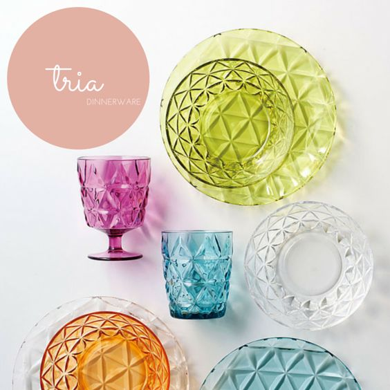 Valentine's Day Gifts for your Special Someone / Colorful clear dinnerware by Kinto