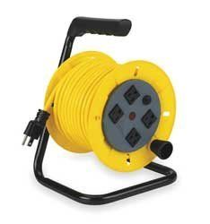 LumaPro 2YKR4 Cord Reel, Manual, 14/3, 40Ft, Yellow by LumaPro. $169.34. Cord Reel, Manual, Gauge/Conductor 14/3, Cord Type SJTW, Cord Length 40 Ft, Color Yellow, Voltage 125, Max Amps 13, 1625 Watts, Temp Range 20 to 221 F, NEMA Connector (4) 5-15R, NEMA Plug Configuration 5-15P, Description/Special Features Circuit Breaker/Power On Light, Height 11.50 In, Width 9.00 In, Depth 8.00 In, Standards cETLus