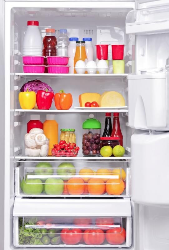 After each grocery trip, move the older items to the front of the fridge so you'll think to use them before they spoil. Just one of the tips to get your fridge organized!