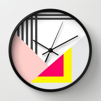 Memphis Milano Wall Clock by Xchange Studio