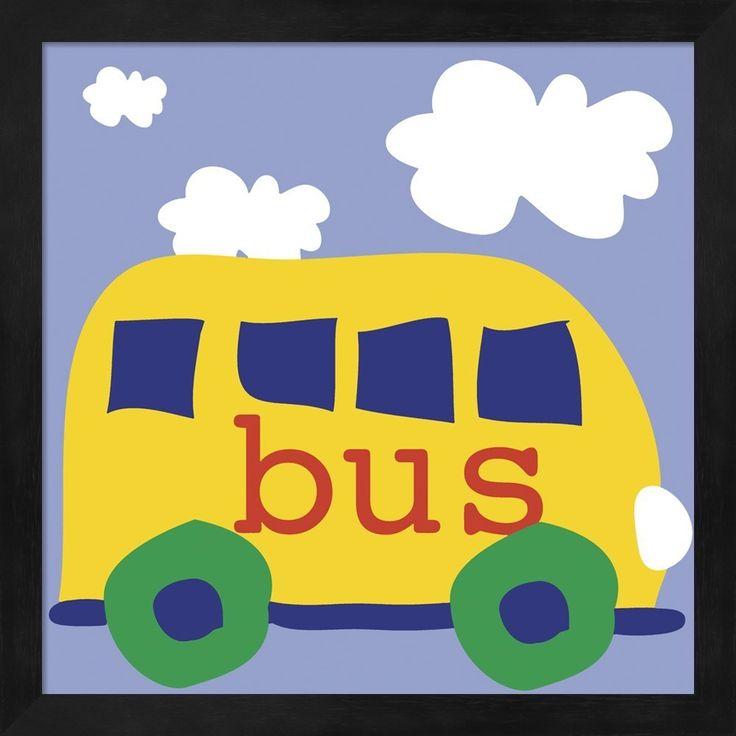Erin Clark 'Yellow School Bus' Framed Art