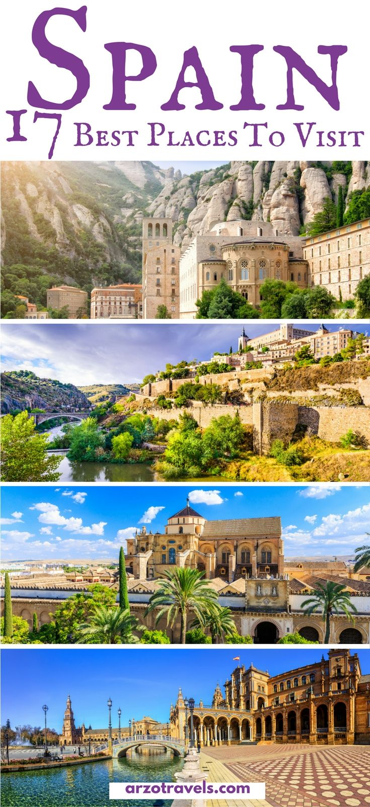The best places to visit in Spain I Travel blogger share their favorite spots in Span - places to put on your Spain itinerary. #spain