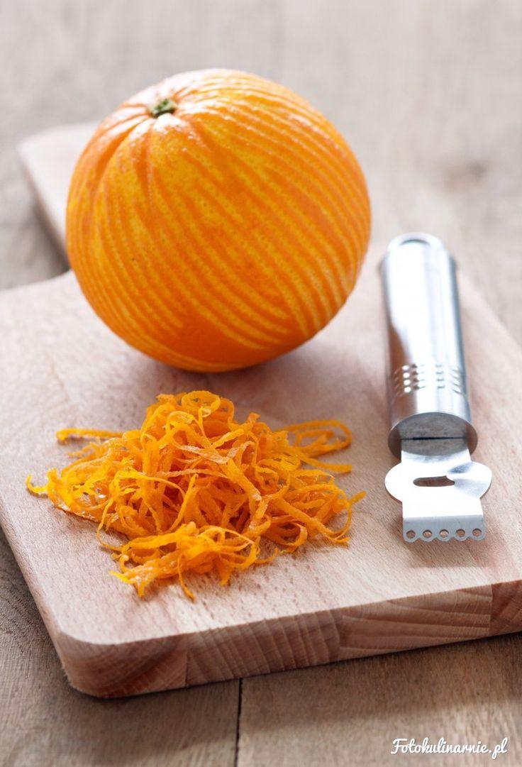 Kandyzowane wiórki pomarańczowe