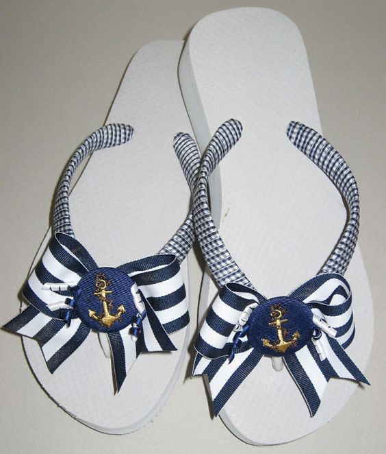 Decorated Flip Flops, Bow Flip Flops, Ribbon Flip Flops, Wrapped Flip Flops, Summer Flip Flops, Beach Flip Flops, Wedge Flip Flop, Martini: