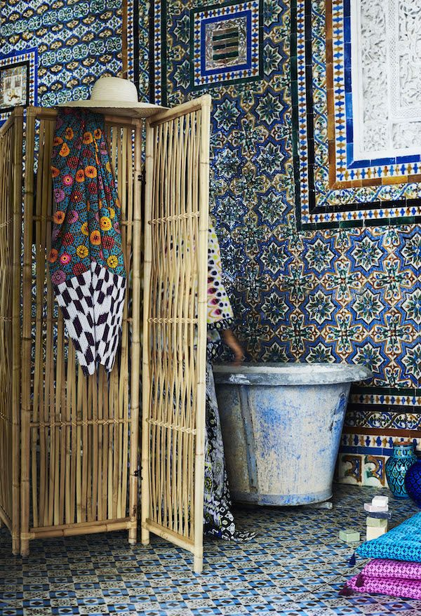 Kamerscherm Jassa collectie Ikea met Piet Hein Eek #ikea #rotan #bamboe #katoen #keur #interieur