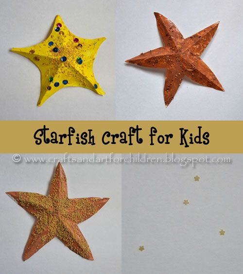 """Craft project - The students like this. We colored with crayons and added them to a """"beach scene"""" on construction paper. It went along with the """"Star of the Sea"""" picture book."""
