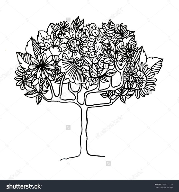 122 best вектор деревья images on Pinterest Image vector - copy coloring pictures of flowers and trees