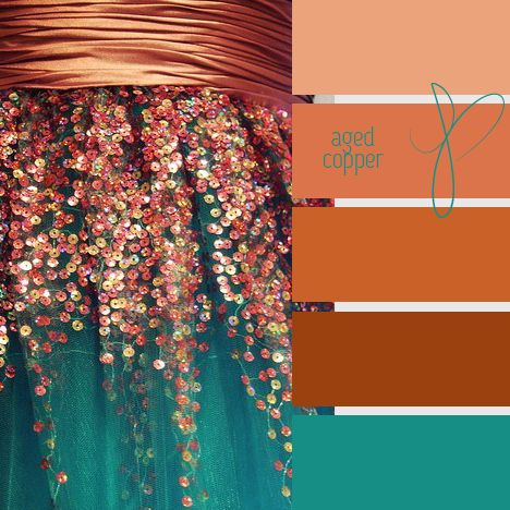aged copper  ❤  LOVE this combination!! Maybe a Master bedroom color inspiration?