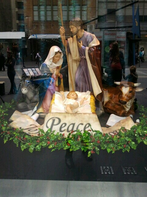 One of the Myer Christmas windows Melbourne 2012...