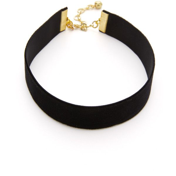 Vanessa Mooney Velvet Choker Necklace ($25) ❤ liked on Polyvore featuring jewelry, necklaces, black, stretch choker, stretchy choker, vanessa mooney, velvet choker necklace and lobster clasp necklace