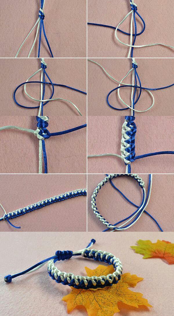 pin van naomi giorgi op armbandjes knopen - pulseras tejidas macrame