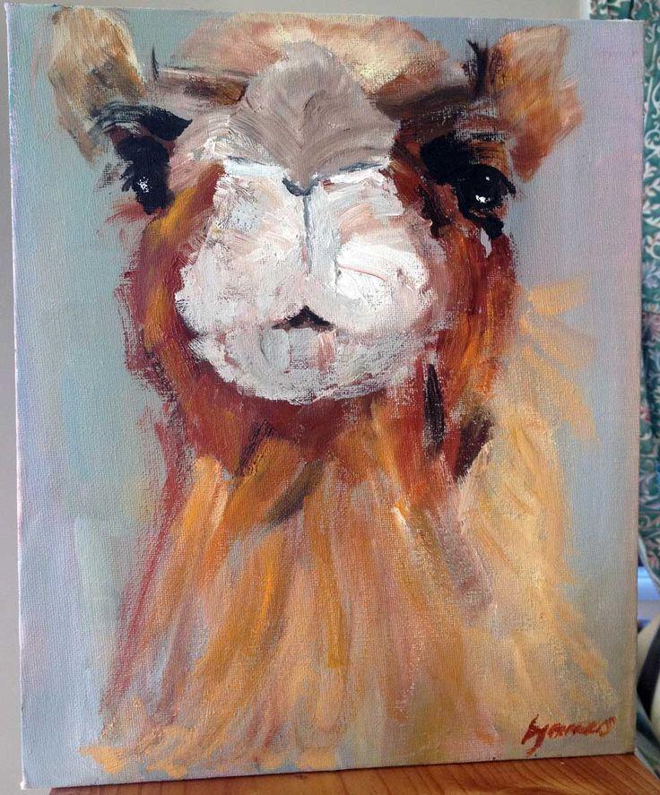 Camel. Oil on canvas, 25 x 31 cm. August 2014