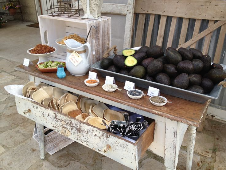 Hill Country Avocado Bar | Cartewheels Catering | Pinterest