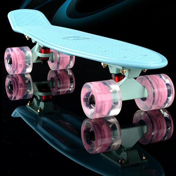2016 mini Cruiser Skateboard LED light Four wheel Skate board adult&children small skateboarding Penny Board banana Long Board