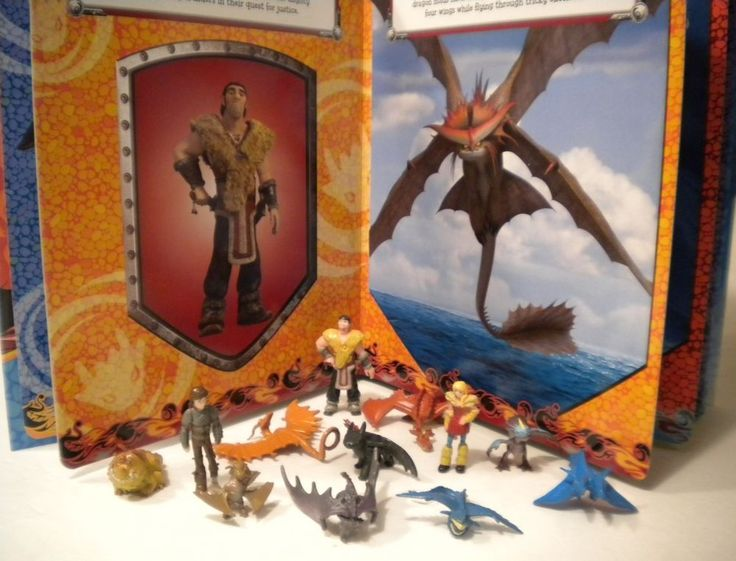 How To Train Your Dragon 2 Movie Toy Figures Book Mat Play