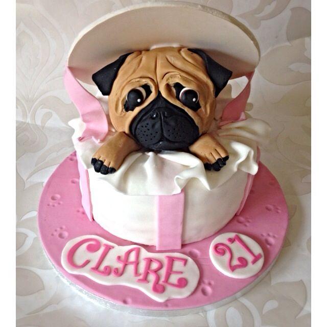 Pug Birthday Cake Topper