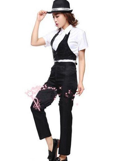 2016 Superieure kwaliteit Michael Jackson Kleding Billie Jean Cosplay Kostuum Vest + Shirt + Broek + Hoed Halloween kleding(China (Mainland))