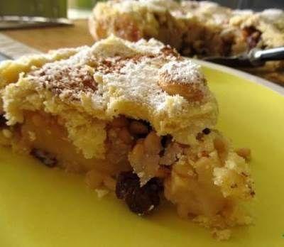 Яблочно ореховый пирог с нежнейшим голландским соусом
