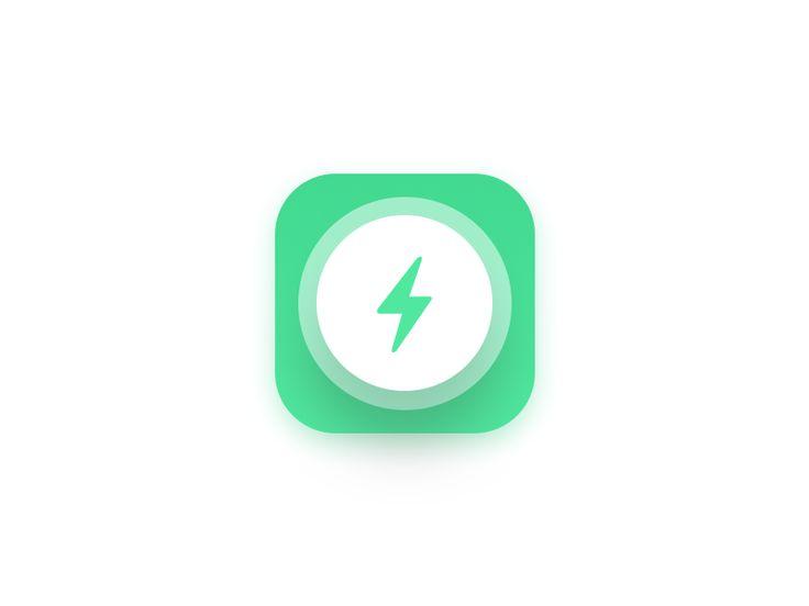 battery saver app icon by Prakhar Neel Sharma #Design Popular #Dribbble #shots