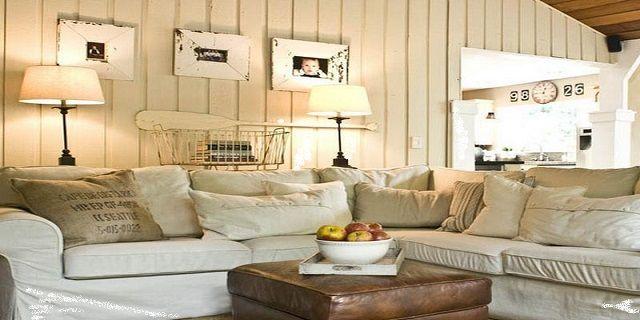 Living room design cottage style