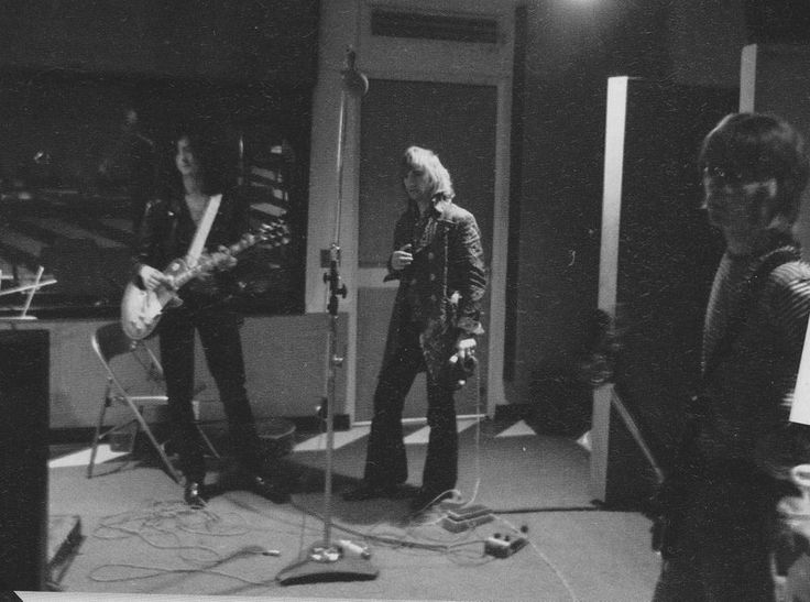 Jimmy Page, Screaming Lord Sutch and Jeff Beck for Screaming Lord Sutch...and Heavy Friends session, Mystic Studios 1969.