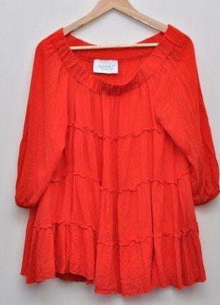 Kup mój przedmiot na #vintedpl http://www.vinted.pl/damska-odziez/tuniki/15415473-czerona-tunika-by-o-la-la