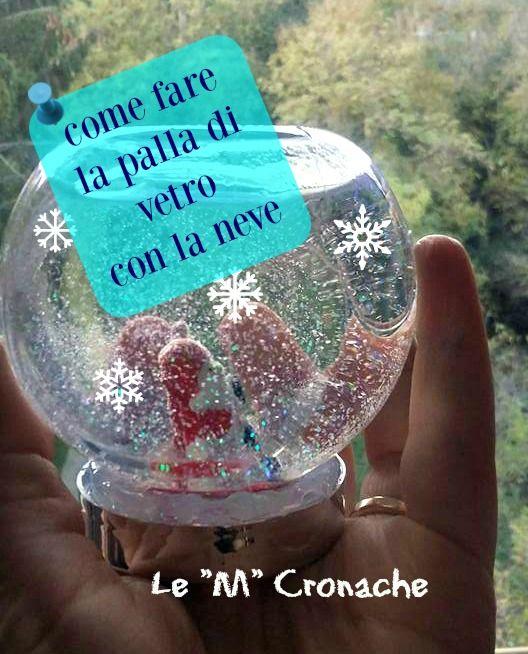 Per trascorrere un po' di tempo insieme aspettando il Natale: costruiamo la palla di vetro con la neve! Giochiamo insieme!