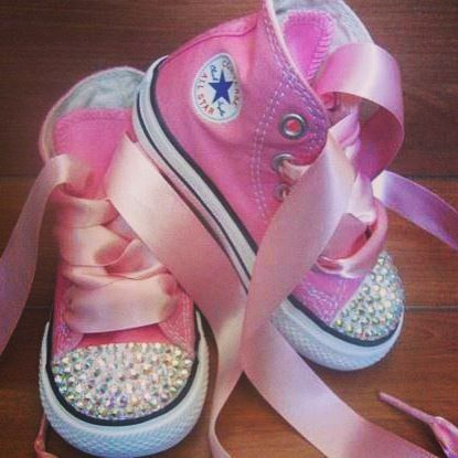 #allstar #converse #bimbo #bambino #cute #brillantini #personalizzate €79,90 www.dream-shop.it