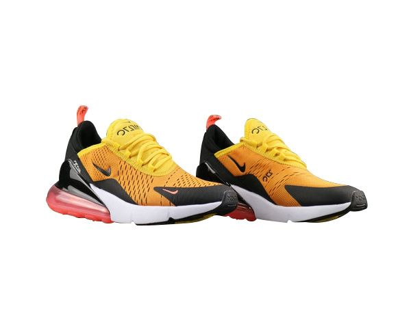separation shoes a06b5 45e92 Men s Nike Air Max 270 Flyknit Shoes Bold Black Orange UK Trainers Sale
