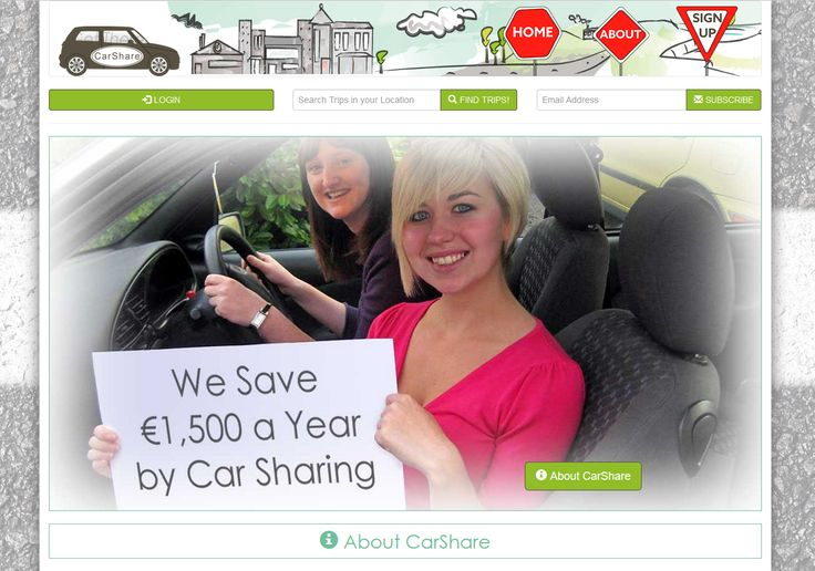 College Project: CarShare from scratch #Bootstrap website..