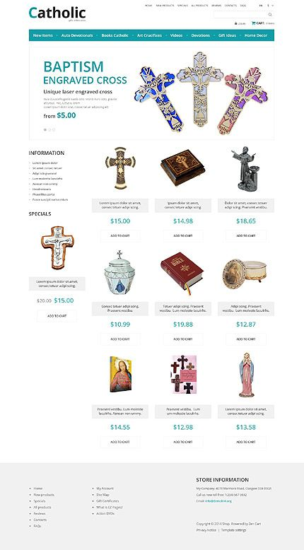 Best ZenCart Templates Images On Pinterest Website Template E - How to creat an invoice catholic store online